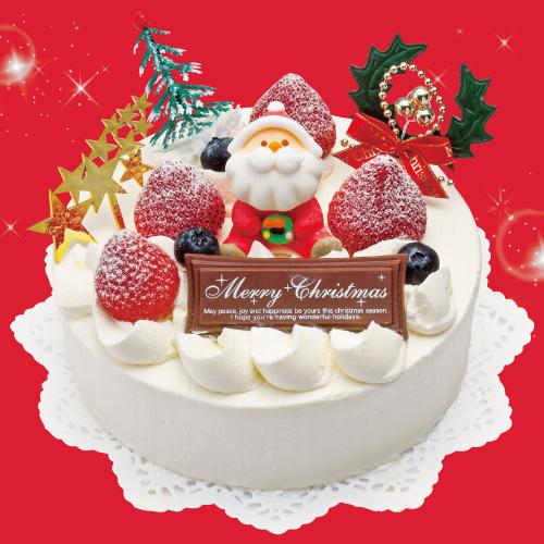 苺デコレーション-クリスマスケーキ