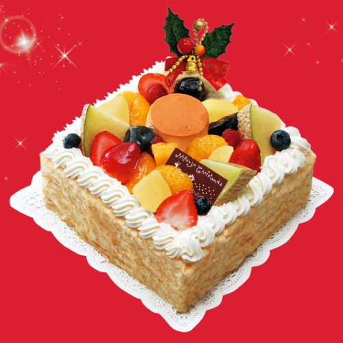 クレープ&プリンアラモード-クリスマスケーキ