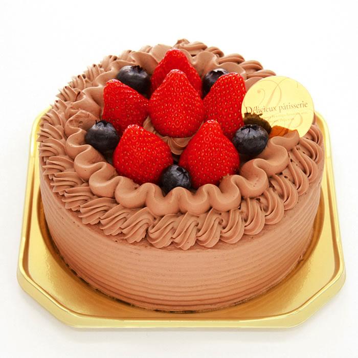 苺チョコクリームデコレーション-デコレーションケーキ